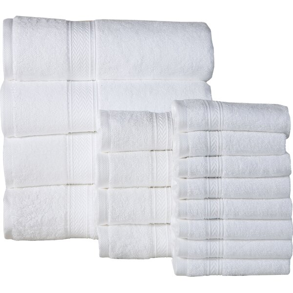 Woolf 16 Piece 100% Cotton Towel Set by The Twillery Co.